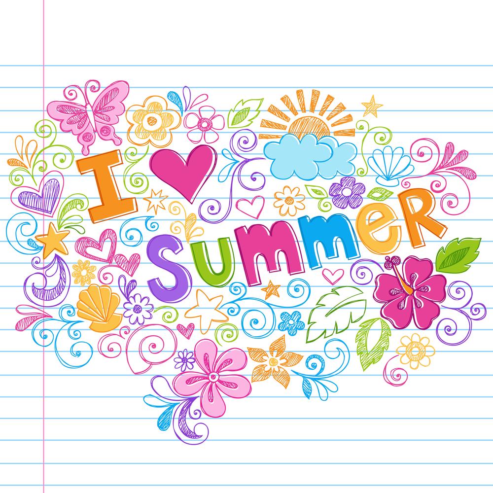 Lovely Summer House Design: Bigstock-Hand-Drawn-I-Love-Summer-Tropi-16580672